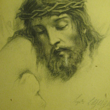 1869 Signed Station of the Cross - Paper