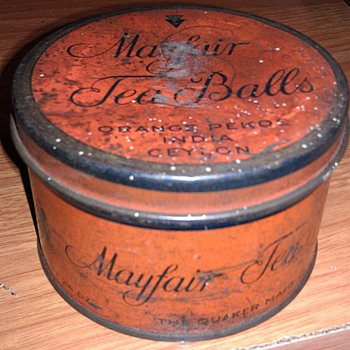 Mayfair Tea Balls Tin - Advertising