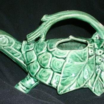 McCoy Pottery turtle watering  sprinkler - Art Pottery