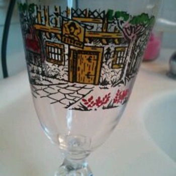Very Cool Vintage Stemmed Glasses  - Glassware