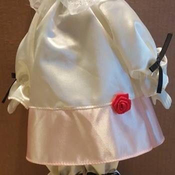 "Unkown Pierrot Clown Doll 15 1/2"" Tall"