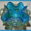 Small MURANO ART GLASS BOWL  ( Ashtray ) - Blue