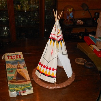 Johnny West Fort Apache Fighters Indian Teepee Marx - Toys