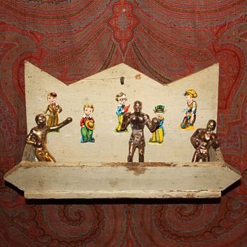 Old Comb Box - tramp art? art deco?  - Folk Art