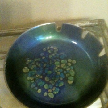 Mid Century Enamel Ashtray - Tobacciana