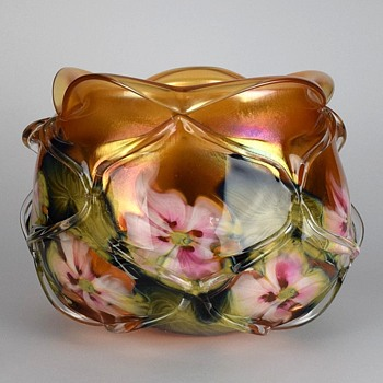 CHARLES LOTTON GOLDEN SUNSET MULTI FLORA CAGED BOWL
