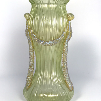 Loetz Yellow Empire Vase. Circa 1905. PN II-2581