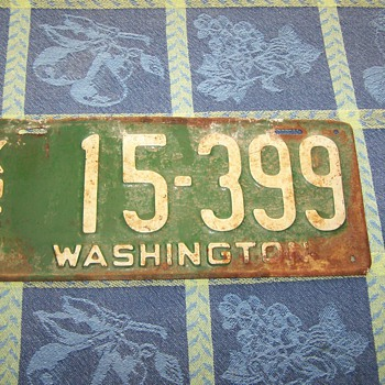 1926 Washington State Auto License Plate - Signs