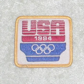1984 Olympics Patch &amp; Pin