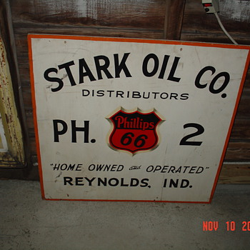 Phillip 66...Double Sided Wood Sign