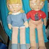 Vintage Cloth Boy and Girl Dolls