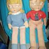 Vintage Cloth Boy and Girl Dolls