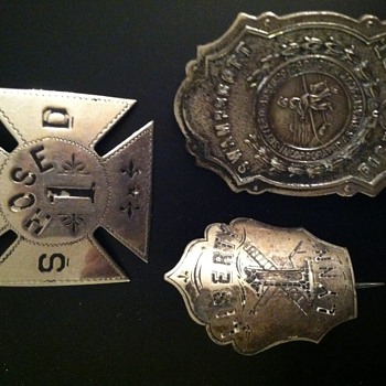 Swampscott North Shore Boston and Lynn County Fire Badges - Firefighting