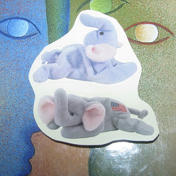 TY elephant stickers - Animals