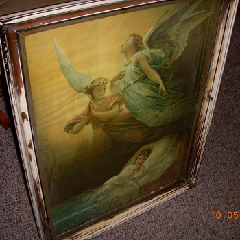 18th. Century Lithograph found in attic of old homstead 