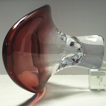 "Very heavy Glass Bowl""Unknow artist"" - Art Glass"