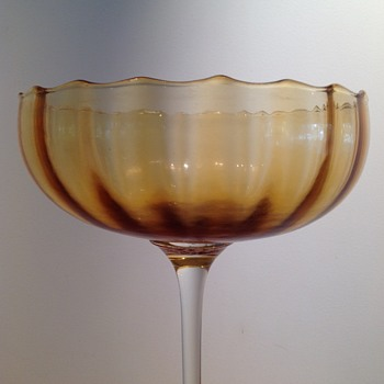 EMPOLI COMPOTE. - Art Glass