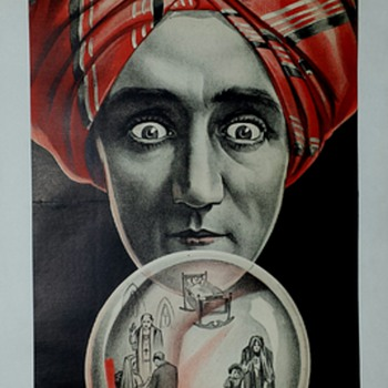 """Original 1910 Alexander """"Crystal Seer"""" Stone Lithograph Poster - Posters and Prints"""