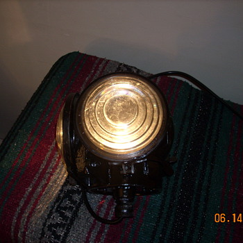 An old H.L. Piper locomotive classification lamp from the Bangor and Aroostook Railroad
