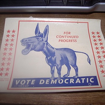 1931 MISSOURI DEMOCRAT DECAL?  - Posters and Prints