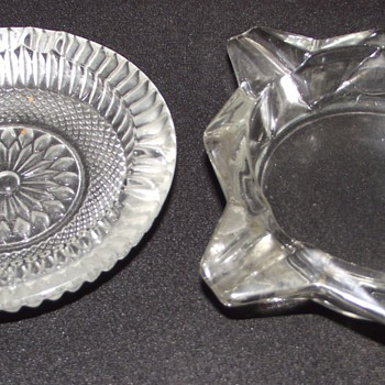 glass ash trays from the 1960s. - Glassware