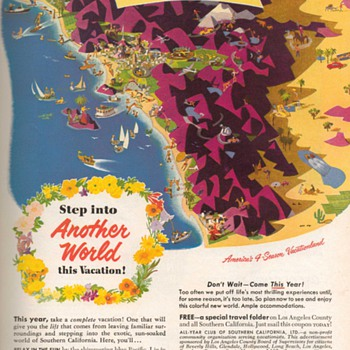 1952 - California Travel Advertisement