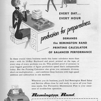 1951 - Remington Rand Calculator Advertisement - Advertising