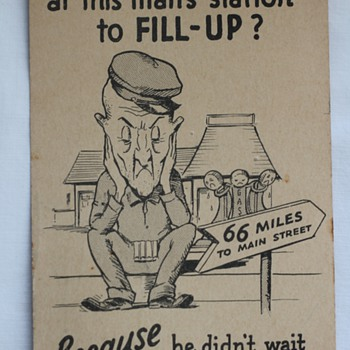 Vintage Shell Gas Postcard