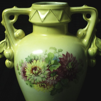 "Austria Porcelain Flowered Vase""1930-40"""