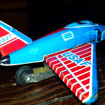 Tin Litho United States Air Force Plane