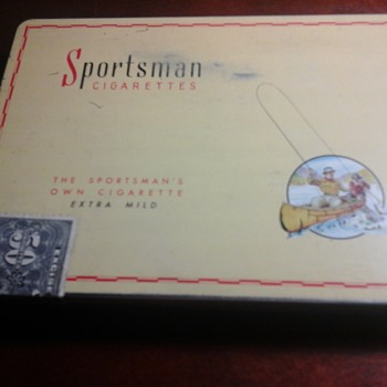 Sportsman tobacco tin - Tobacciana
