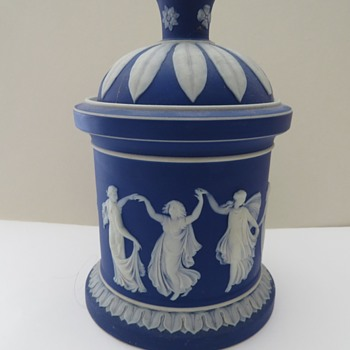 Wedgwood Jasperware Dancing Hours Tobacco Jar - China and Dinnerware