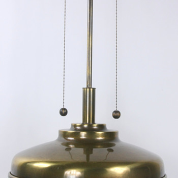 Mid Century Large Brass Table Lamp