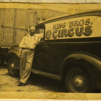 Some old photos including a circus one and ??