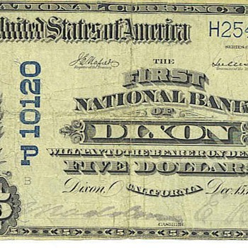 National bank of Dixon, Calif 1911 - US Paper Money