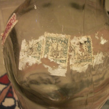 Old Liqour Bottle With Maryland Liquor Excise Tax Stamps