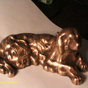 Brass Dog Inkwell - Pens