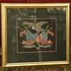 Folk Art or Americana artwork - silk needlepoint patriotic Eagle and flag