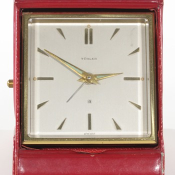 Turler Swiss Travel Alarm Clock, 1958 - Clocks