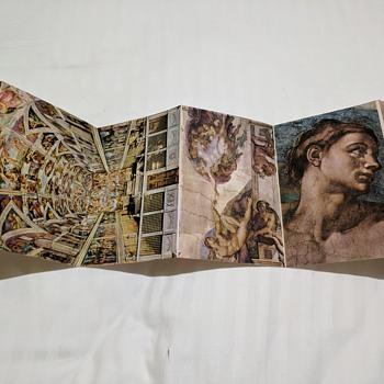 Postcard booklet of Michelangelo Lacappella sistina - Postcards