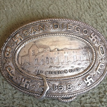 Vintage BPOE Elks Club Sterling Silver San Diego Badge - Medals Pins and Badges