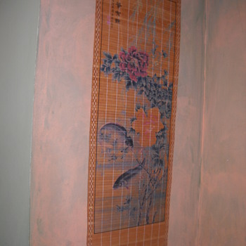 Asian Catfish Scroll painting/wall hanging - Asian
