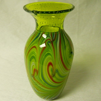 China Or Japan Art Glass Vase ?? - Art Glass