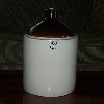 Antique 3 Gallon Stoneware Jug - China and Dinnerware