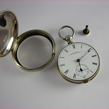 Hidden Key Coin Silver Pair Case - Pocket Watches