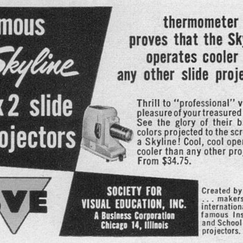 1952 - SVE Slide Projector Advertisement - Advertising