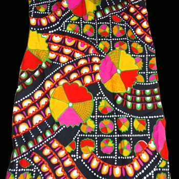 #53 ~ 1960s Psychedelic Acadia Deadstock Go Go Dress #54 Poster - Womens Clothing