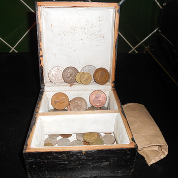 English coins circa 1940 on onwards.