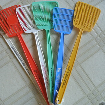 Fly Swatters w/ Advertising - Something Different and Colorful to Collect - Advertising