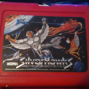 1986 RETRO SILVER HAWKS LUNCHBOX IN MINT CONDITION!